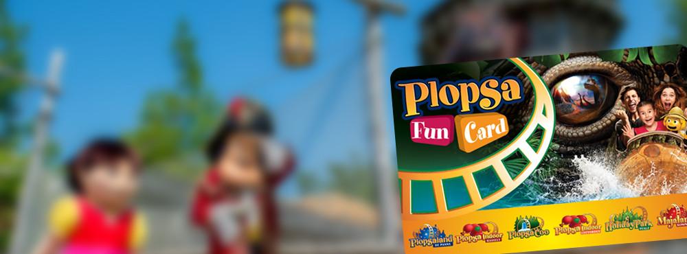 1 jaar Plopsa-fun met een Plopsa-FunCard!